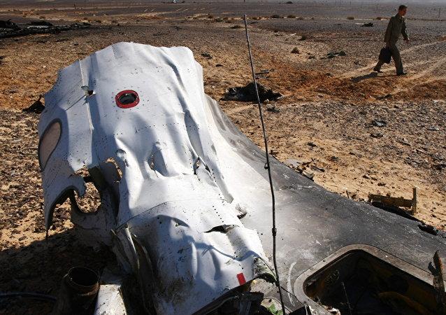 Lugar del siniestro del A321 ruso en Egipto