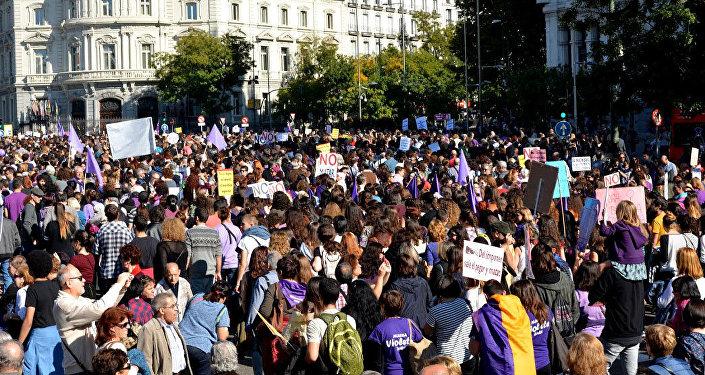 Manifestación contra la violencia de género, Madrid (archivo)