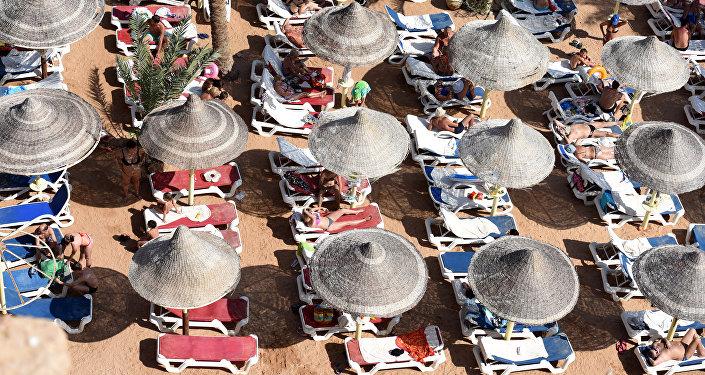 Turistas en la playa, Sharm el-Sheikh