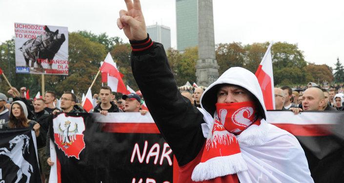Una protesta nacionalista en Varsovia (archivo)