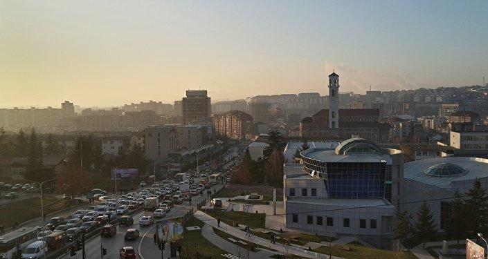 Pristina, la capital de Kosovo