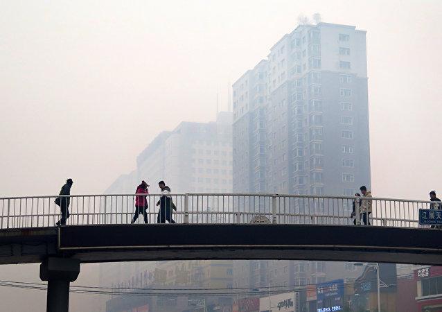Aire contaminado en la ciudad de Shenyang, China