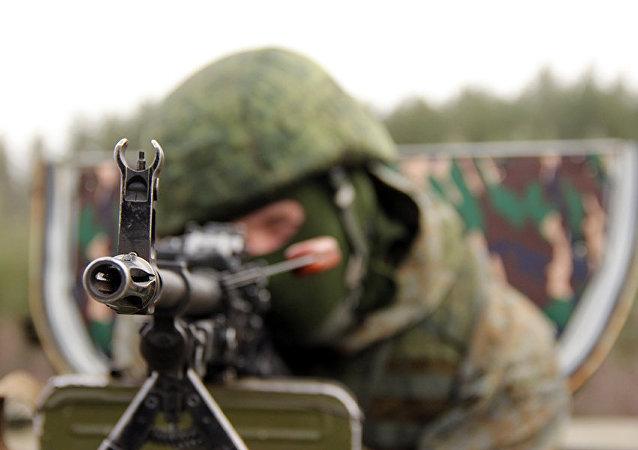 Ejercicios de una unidad de misiones especiales del Distrito Militar Oeste de Rusia