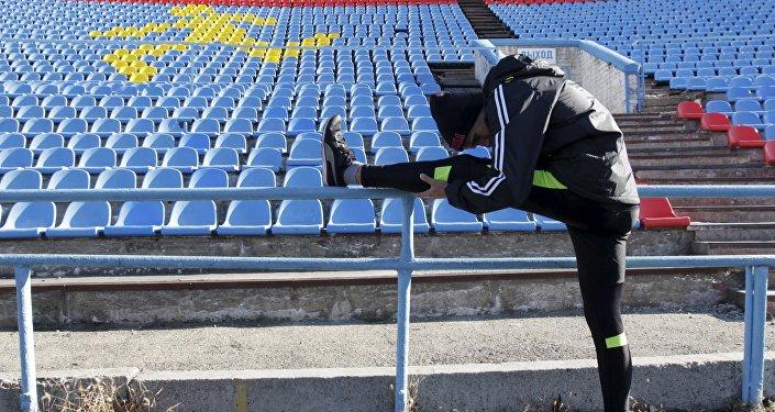 Un atleta ruso
