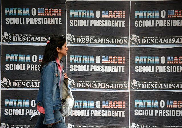 Carteles electorales en Buenos Aires