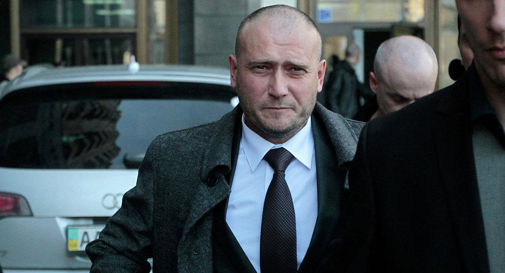Dmitri Yárosh, líder de la organización radical ucraniana Pravy Sektor
