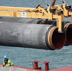 Construcción de una sección del gasoducto Nord Stream