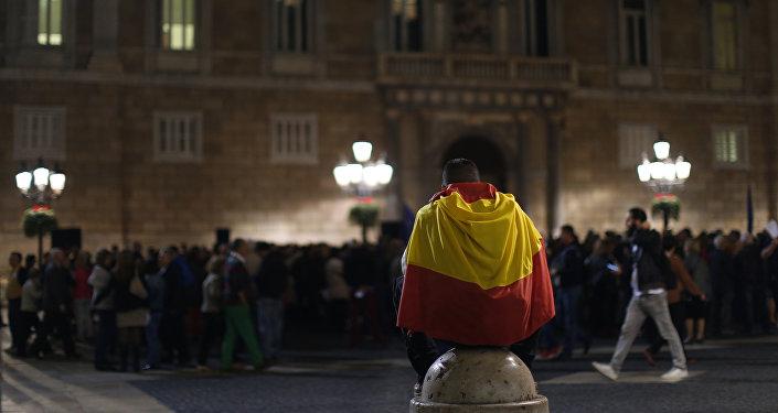 Manifestación a favor de la integridad de España en Barcelona (archivo)
