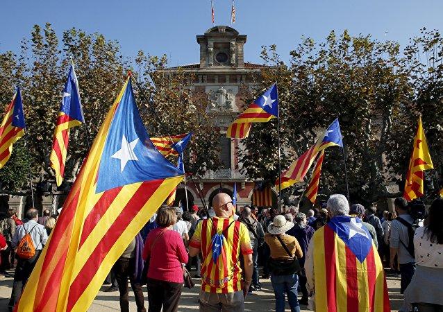 Soberanistas catalanes