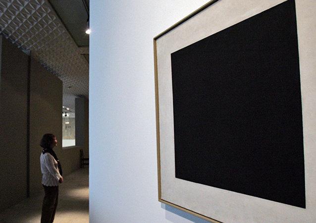 Cuadrado Negro en la galería Tretiakov de Moscú