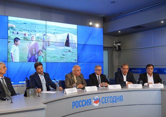 Líderes de la oposición siria en Rusia