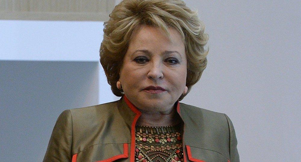 Valentina Matvienko, presidenta del Consejo de Federación de Rusia