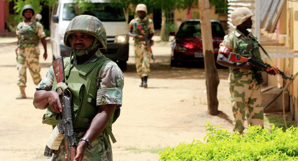 Soldados del Ejército de Nigeria