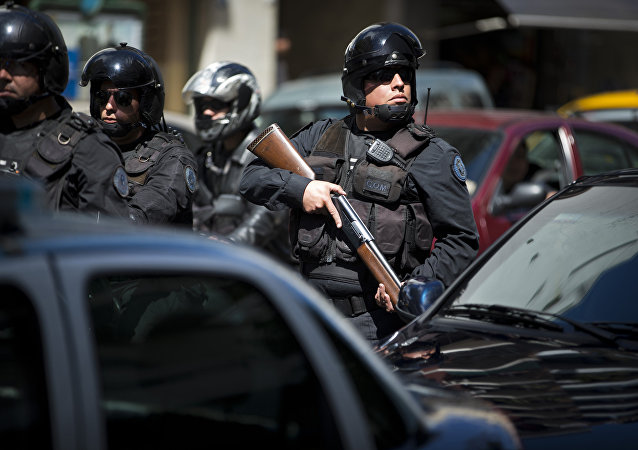 Los policías colombianos (Archivo)