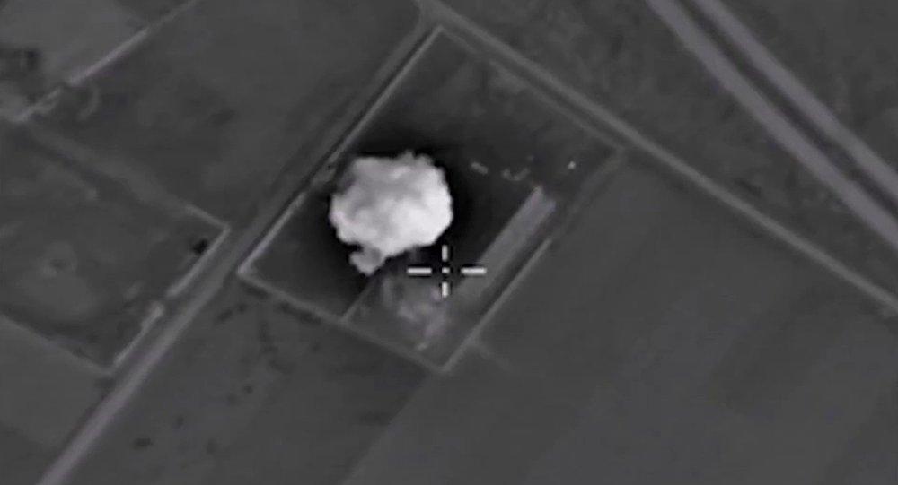 Ataques aéreos de Fuerzas Aeroespaciales rusas contra EI en Siria (Archivo)