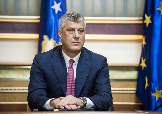 Hashim Thaci, ex primer ministro de Kosovo (archivo)
