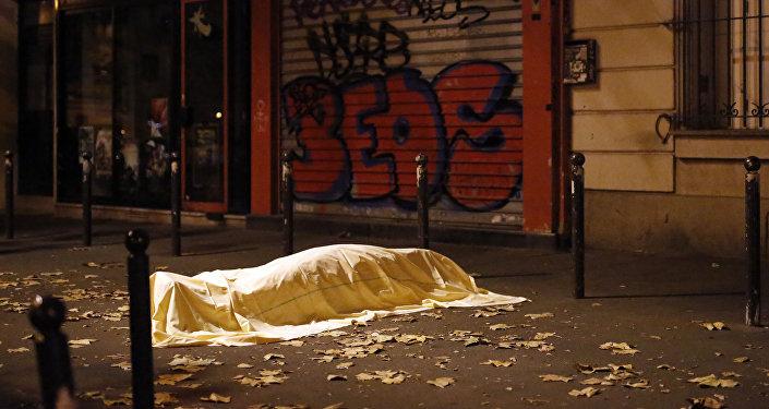 El lugar del atentado en París