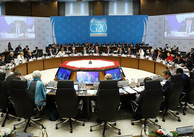 Segunda sesión de trabajo del G20 en Antalia