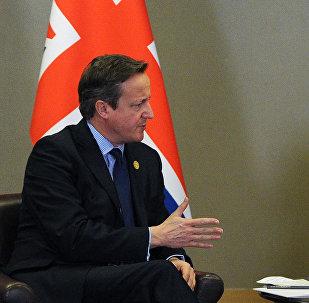 El presidente de Rusia, Vladímir Putin y el primer ministro del Reino Unido, David Cameron