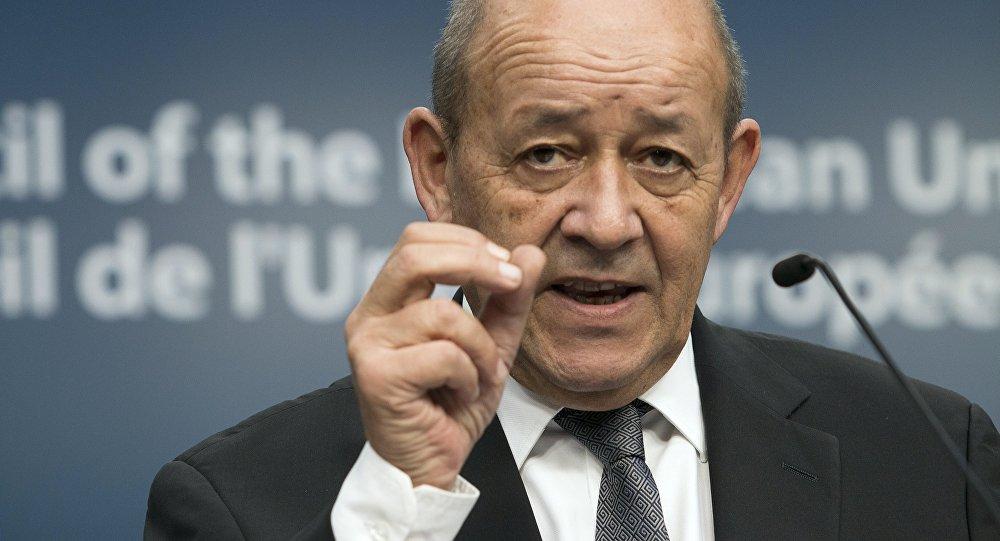 Jean-Yves Le Drian, el canciller de Francia (archivo)