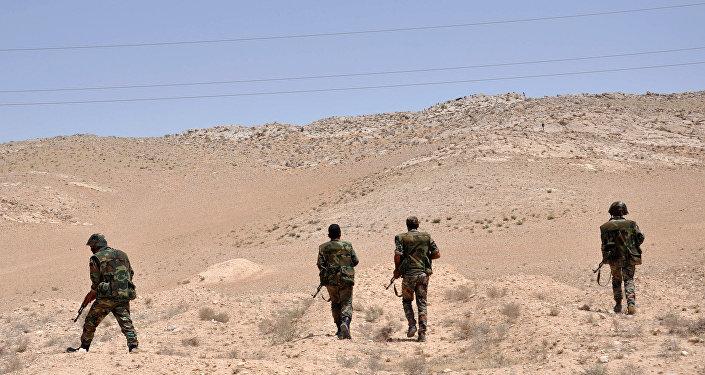 Soldados sirios en la localidad de Palmira (Archivo)