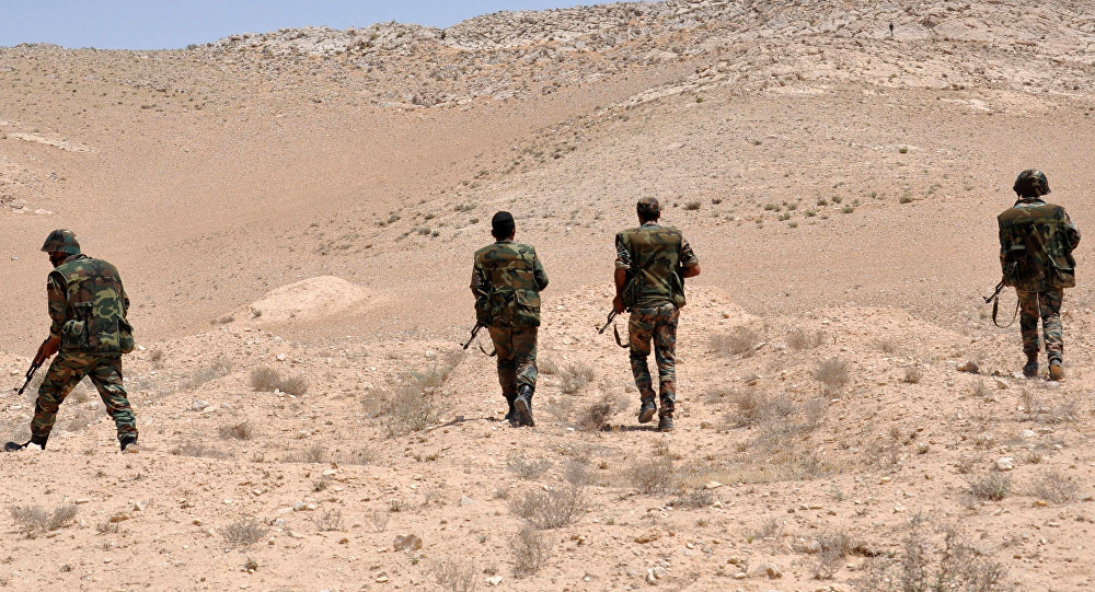 Soldados del Ejército sirio en la localidad de Palmira (Archivo)