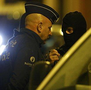Policías belgas