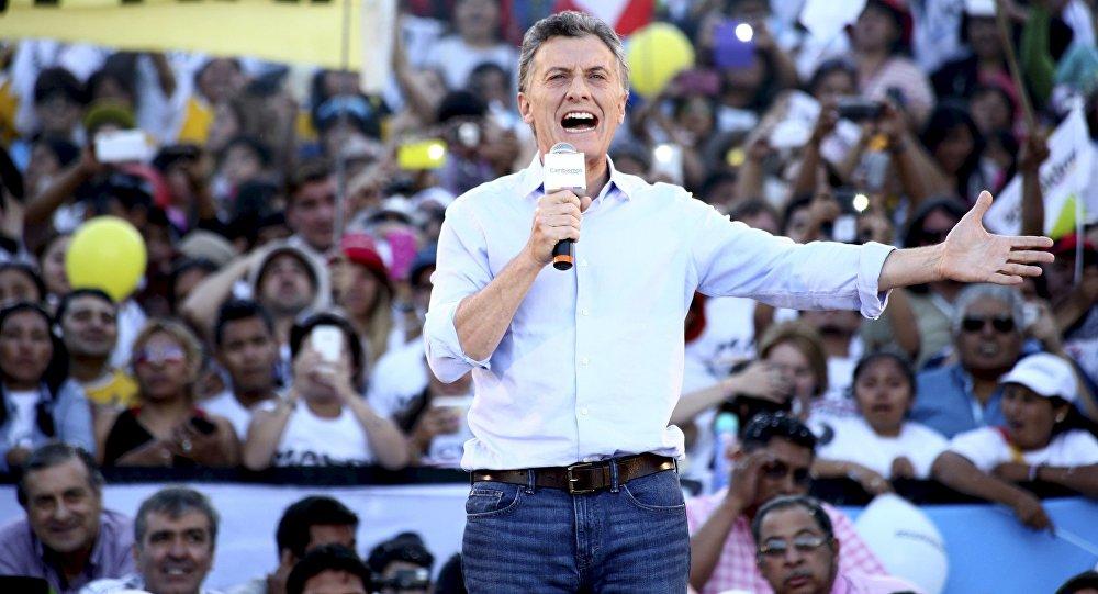 Mauricio Macri, candidato presidencial en la localidad de Humahuaca, Argentina