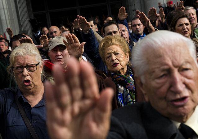 Los seguidores del fraquismo en Madrid