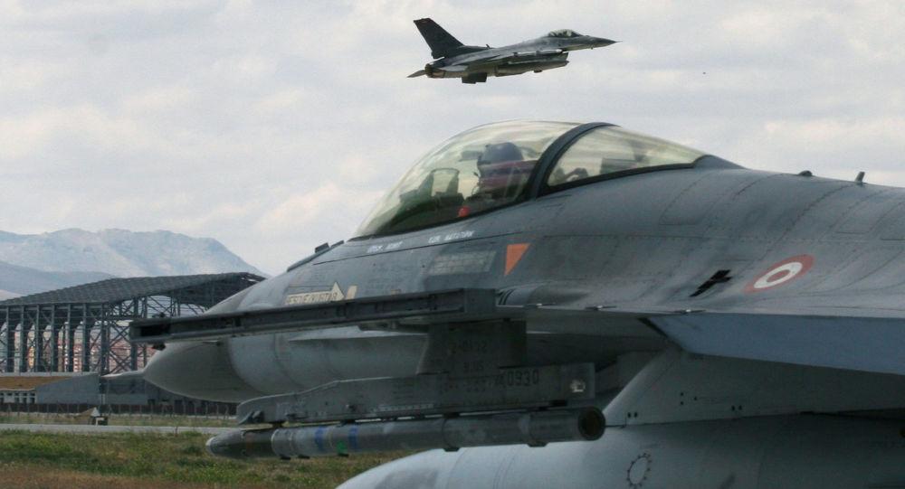 Cazas F-16 de la FFAA de Turquía (archivo)