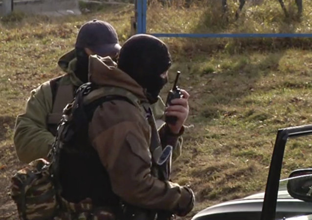 Oficiales de las fuerzas especiales rusas en Nálchik