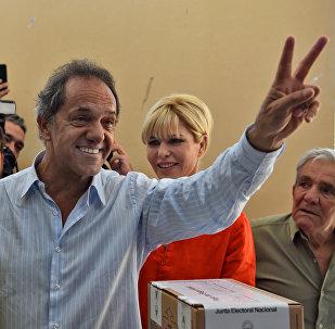 Daniel Scioli, candidato presidencial del gobernante Frente para la Victoria (FpV)