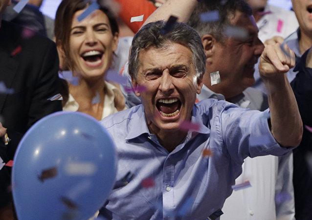 Mauricio Macri, candidato opositor a la Presidencia argentina