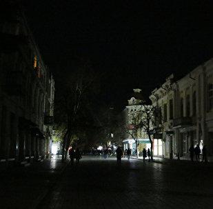 Corte de luz en Crimea
