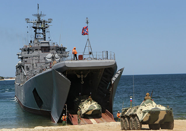 El buque de desembarco Yamal (archivo)
