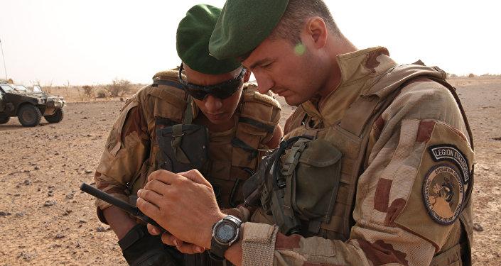 Soldados franceses en África
