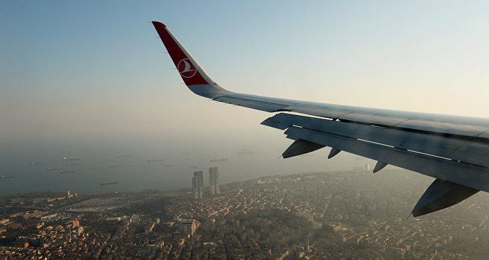 Vista de Estambul desde avión