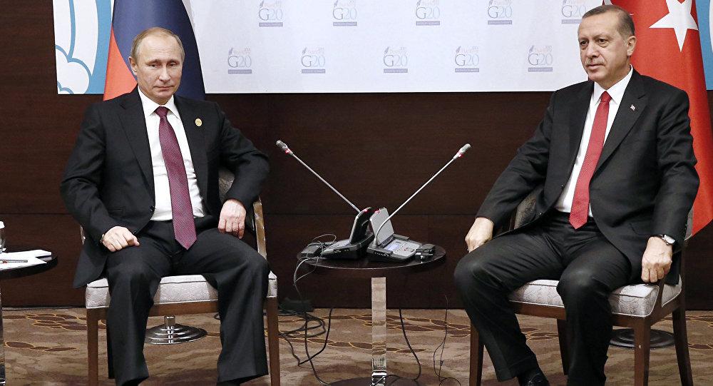 El presidente de Rusia, Vladímir Putin y el presidente de Turquía, Recep Tayyip Erdogan