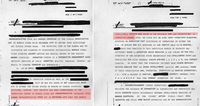 Un documento desclasificado de la CIA, que confirma la implicacion de Pinochet  en el plan Cóndor