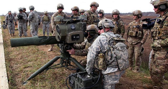 Un misil antitanque estadounidense TOW, igual a los hallados en un almacén de los terroristas (imagen referencial)