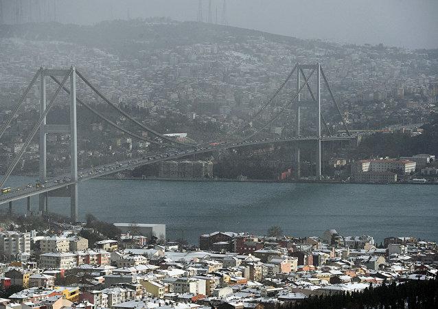 Estrecho del Bósforo en Estambul