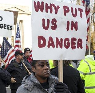 Protesta contra los refugiados en los EEUU