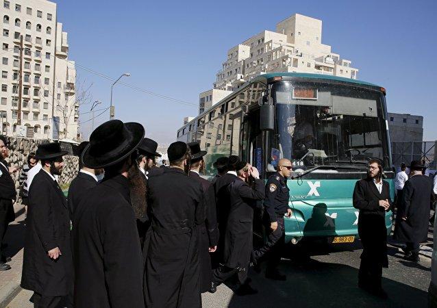 Parada de autobús, donde tuvo lugar el ataque a una israelí