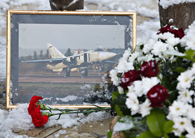 Homenaje a los pilotos del Su-24 ruso derribado por Turquía