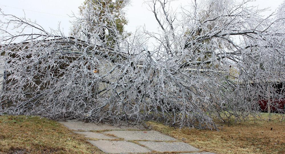 Lluvia helada en Oklahoma