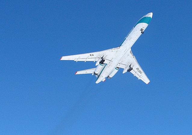 Un avión Tu-154M