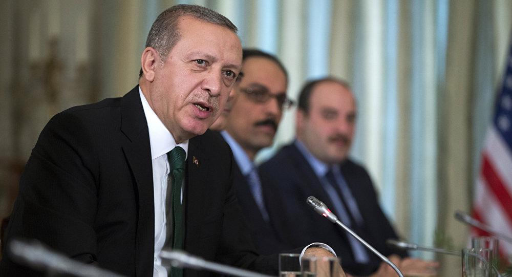 Recep Tayyip Erdogan, presidente de Turquía, durante el encuentro con Barack Obama