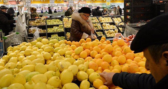 Naranjas y limónes en uno de los supermercados de San Petersburgo