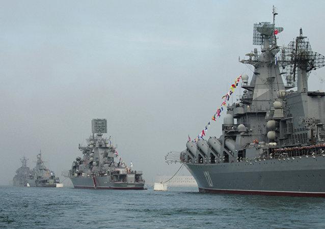 Buques de la Flota del Mar Negro en Sebastopol (archivo)