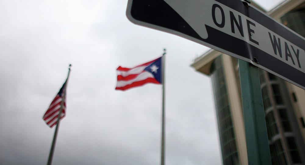 Banderas de Puerto Rico y EEUU